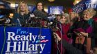 Congresswoman Carolyn Maloney speaks during a 'Ready for Hillary' rally in Manhattan on Saturday. Photograph: Darren Ornitz/Reuters.