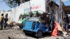 The scene of an attack by Islamist militants on the  ministry for higher education offices in Somalia's capital Mogadishu. Photograph: Ismail Taxta/Reuters