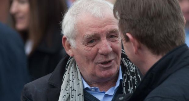 Eamon Dunphy at the funeral of <b>Ray Treacy</b> at the Church of St Laurence O' - image
