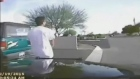 Arizona police release dash cam video from February of a police cruiser ramming into a robbery suspect wielding a gun, who survived and was later jailed, police said. Video: Reuters
