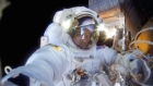 GoPro video shot in space by US astronaut Terry Virts shows two spacewalks on the International Space Station on February 25 and March 1. Video: NASA/Reuters. Music: The 126ers.