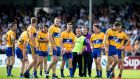 Clare Manager Colm Collins with his team -  they have welcomed Davy O'Halloran into their panel. Photo:  James Crombie