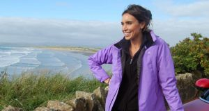 Wild Ireland: Christine Bleakley – at Rossnowlagh, in Co Donegal – is enthusiastic but not gushing