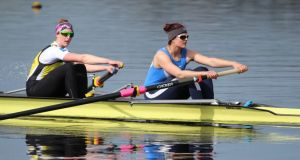 The Ireland women's pair of Leonora Kennedy (left) and Monika Dukarska (right), which won gold in Italy, in training.
