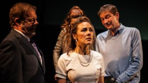 Lally (Roisin Gallagher) with Bun McTasney (Alan McKee), Daly the Male (Vincent Higgins) and Rahab (Maria Connolly)