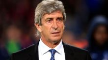 Manchester City manager Manuel Pellegrini denied that opponents had worked out how his team play. Photograph: Jonathan Brady/PA Wire.