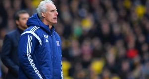 "Mick McCarthy: ""The first thing I said to the players in the dressing room after the game was what a belligerent, stubborn, hard working, tough, horrible bunch you have turned out to be and I love you and I am proud of you because you need all those qualities to be a good team. It is lovely to have."" Photograph: Justin Setterfield/Getty Images"