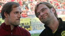 Former Mainz manager  Thomas Tuchel (left) will take over from Jürgen Klopp at Borussia Dortmund from next season. Photo:   Daniel Roland/AFP/Getty Images