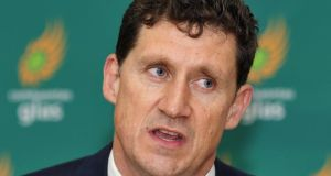 "Green Party leader Eamon Ryan: ""If we do take the Yes vote for granted we risk losing it"". Photograph: Aidan Crawley"