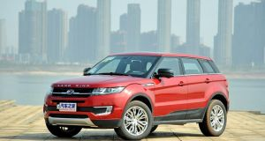 No it's not he Land Rover Evoque - this is in fact the Land Wind X7, though we can see how you might be confused