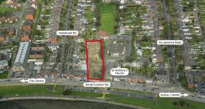 The 0.82-acre site at 59-60 Clontarf Road is 4km from Dublin city centre with a fine mix of amenities nearby.