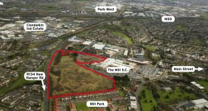 The 20 acres zoned for a range of town centre facilities next to The Mill shopping centre in Clondalkin, Co Dublin