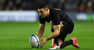 Dan Carter is one of a number of All Blacks who had to return to New Zealand in order to represent the side again. Photograph: Getty