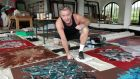 Michael Flatley  in his studio: the sales  of his work at an Irish and international art auction show  he is now second only to Jack B Yeats in the list of the highest prices for paintings achieved at auction in Ireland thus far in 2015
