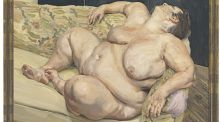 Detail from 'Benefits Supervisor Resting' by Lucien Freud, which goes under the hammer at Christie's, New York, in May