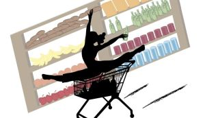 Exercising in the supermarket is a step too far for most of us.Photograph: Thinkstock