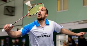 Scott Evans recently made the top 25 in the world rankings in Badminton with only four other European players ahead of him. Photograph: Cathal Noonan/Inpho.