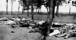 Armenians killed by Turks during the Armenian genocide in 1915. A world that has failed to bring justice for a genocide committed 100 years ago is a world that lacks the courage or the moral righteousness to address the wrongdoings of our own times. Photograph: Universal History Archive/UIG via Getty images