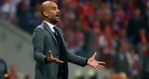 Bayern Munich believe head coach Pep Guardiola will stay with the German club beyond his current contract. Photograph: Reuters.