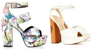 Tropical print platform €29.99 New Look White Platforms €903 Charlotte Olympia at Harvey Nichols