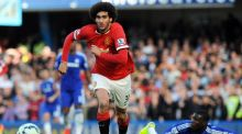 Manchester United manager Louis van Gaal has urged Marouane Fellaini to keep his focus on his return to Goodison Park on Sunday. Photograph: Epa
