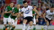 Richie Towell scored twice as Dundalk saw off Cork City 2-1 at Turner's Cross. Photograph: Inpho