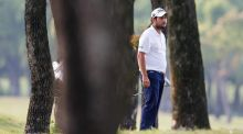 France's Alexander Levy  looks on after plays a shot during the day three of the Volvo China Open at Tomson Shanghai Pudong Golf Club. Photograph: Lintao Zhang/Getty Images