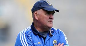 "Roscommon manager John Evans: ""There were a few harsh words at half-time."" Photograph: Tommy Grealy/Inpho"