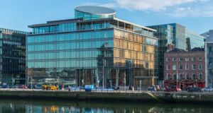 Riverside 1 on Sir John Rogerson's Quay: both Irish Life and IPUT are believed to be interested in acquiring the office building in Dublin's docklands area