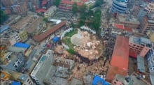 Drone footage reveals devastation in Nepal
