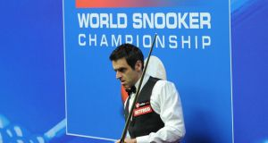 Ronnie O'Sullivan is through to the quarter-finals of the snooker World Championships after a 13-5 win over Matthew Stevens. Photograph: PA
