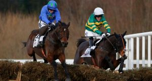 Hurricane Fly and Jezki will renew their rivalry in the Ladbrokes World Series Hurdle at Punchestown on Thursday. Photograph: Getty