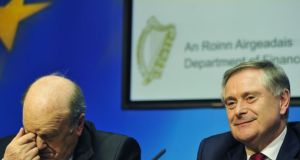 Michael Noonan is usually more Morecambe to Brendan Howlin's Wise. But the days when Fine Gael's finance spokesman used to electrify the Dáil with witty banter are long gone. Photograph: Aidan Crawley