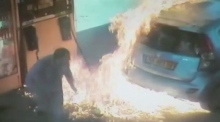 Israeli woman ignites petrol pump over cigarette argument