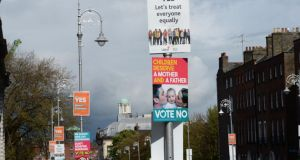 Marriage Equality Referendum posters.Photograph: Dara Mac Dónaill