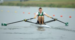 Paul O'Donovan of Ireland was fourth in the world in the lightweight single in 2014. Photograph: Richard Heathcote/Getty Images.