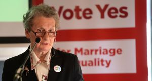 Margaret Gill  at the launch of the Fianna Fáil marriage referendum campaign in Dublin. Photograph: Dara Mac Dónaill / The Irish Times