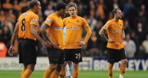 """It's not nice and you feel like you've let people down . . . it is terrible to go through and you just have to accept it,"" says Wolves striker Kevin Doyle, who has been relegated three times in his career. Photograph: Getty."