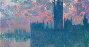 Detail from Monet's view of London's parliament buildings