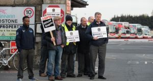 Hundreds of thousands of bus passengers are facing travel disruptions  as a result of the industrial action which was prompted by plans announced last year by the National Transport Authority to put out to tender 10 per cent of routes. Photograph: Cyril Byrne/The Irish Times