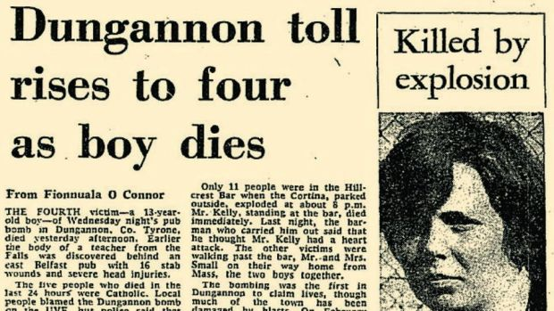 Fourth fatality: the Irish Times report, on March 19th, 1976, of Patrick Barnard's death