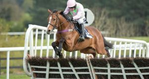 Ruby Walsh and Faugheen on the way to winning the   Punchestown Champion Hurdle. Photo: Morgan Treacy/Inpho