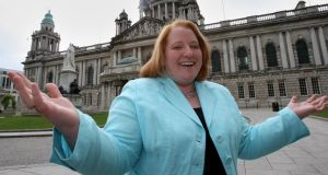 "Naomi Long: ""I'm quite happy to start as the underdog."" Photograph: The Irish Times"
