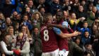 Tom Cleverley and Christian Benteke were both on the scoresheet for Aston Villa as they beat Everton 3-2 at Villa Park. Photograph: PA