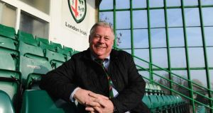 London Irish owner Mick Crossan fronted the consortium that bought the club in 2013. Photograph: Mike Hewitt/Getty Images