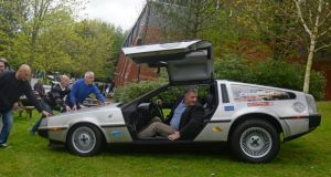 A DeLorean sports car on show at the Ulster Folk and Transport Museum yesterday. Photograph: Colm Lenaghan/Pacemaker