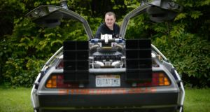 Tom Reddaway with his DeLorean at the Ulster Folk and Transport Museum. Photo Colm Lenaghan/Pacemaker