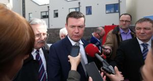 Minister Alan Kelly pictured at the official opening of Grand Canal View , Bluebell.Tenants got the keys to 19 New Dublin City Councils Homes in Bluebell this afternoon. Photograph: Collins Dublin.