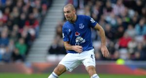 Darron Gibson won't line out for Everton again this season. Photo: Nigel Roddis/Getty Images