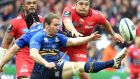 Eoin Reddan and Leinster have two Pro 12 games left to ensure they finish in the Champions Cup qualification places. Photograph: Afp